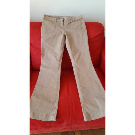 Pantalon évasé KOOKAI Beige, camel