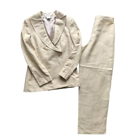 Tailleur pantalon GEORGES RECH Beige, camel