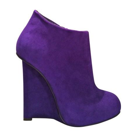 Bottines & low boots à talons GIUSEPPE ZANOTTI Violet, mauve, lavande