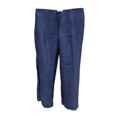 Pantalon large PAULE KA Bleu, bleu marine, bleu turquoise