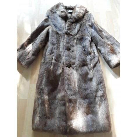 Manteau en fourrure GIL FOURRURES Doré, bronze, cuivre