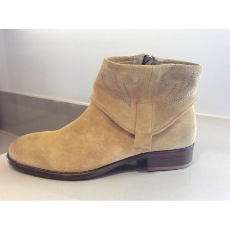 Bottines & low boots plates TRIVER FLIGHT Beige, camel