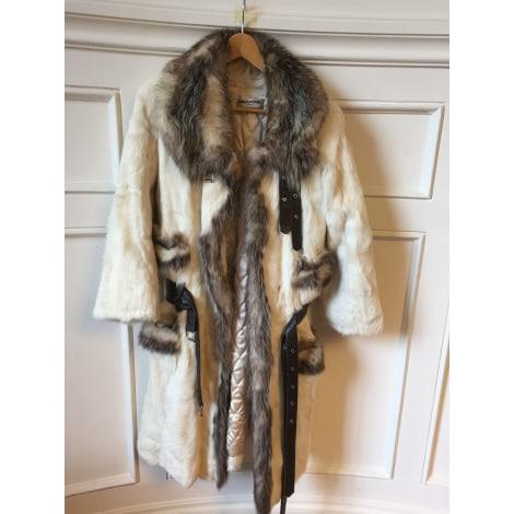 Manteau en fourrure SONIA RYKIEL Blanc, blanc cassé, écru