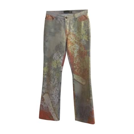 Jeans droit JUST CAVALLI Multicouleur