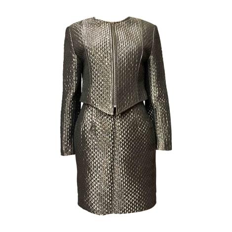 Tailleur jupe PACO RABANNE Gris/bronze métallisé