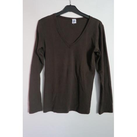 Top, Tee-shirt PETIT BATEAU Marron