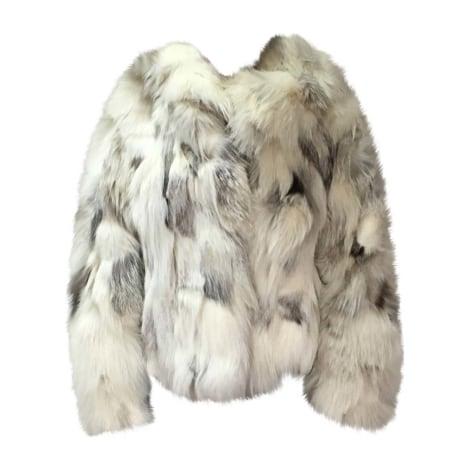 Blouson, veste en fourrure YVES SALOMON Blanc, blanc cassé, écru
