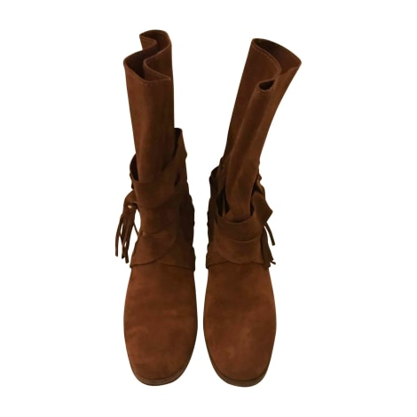 Bottes plates SEE BY CHLOE Beige, camel
