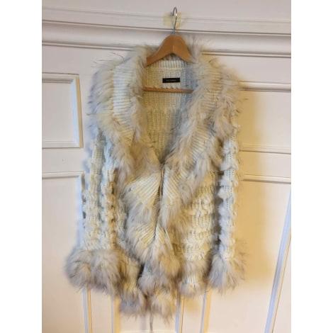 Manteau en fourrure LOU ANDREA Blanc, blanc cassé, écru