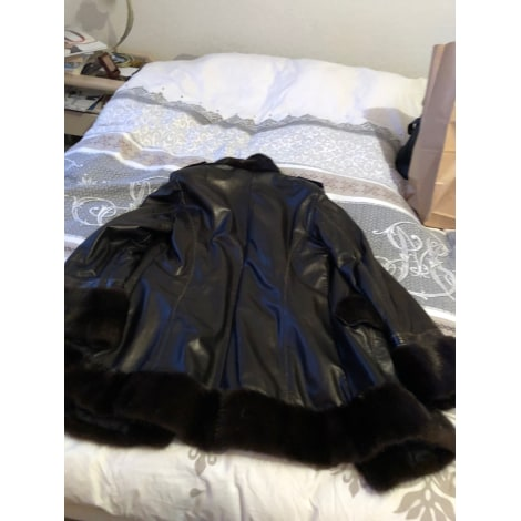 Manteau en cuir FONTANI Marron