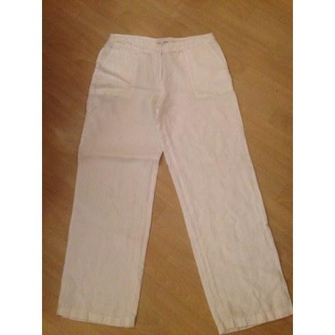 Pantalon évasé KOOKAI Blanc, blanc cassé, écru