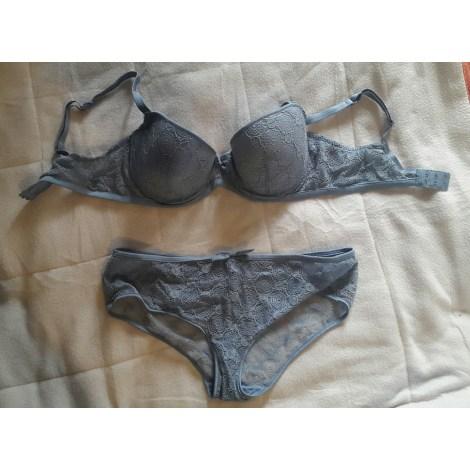Ensemble, parure lingerie ETAM bleu gris