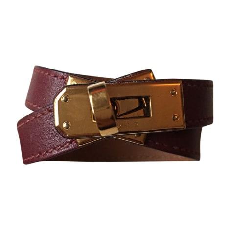 Bracelet HERMÈS Kelly Double Tour Rouge, bordeaux