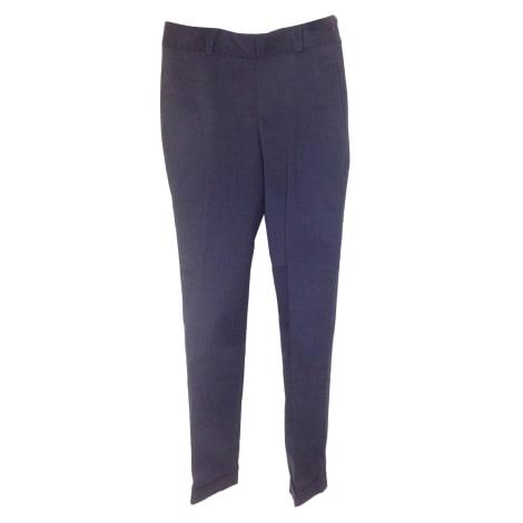 Pantalon slim, cigarette NICOLE FAHRI Bleu, bleu marine, bleu turquoise