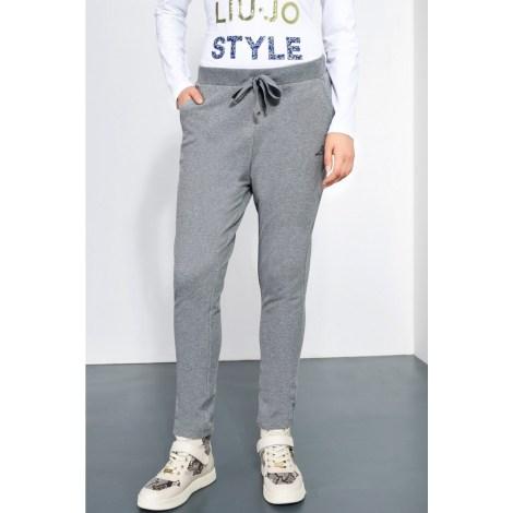 Pantalon droit LIU JO Gris, anthracite