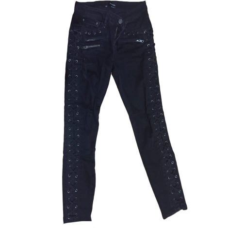 Jeans slim THE KOOPLES Gris, anthracite