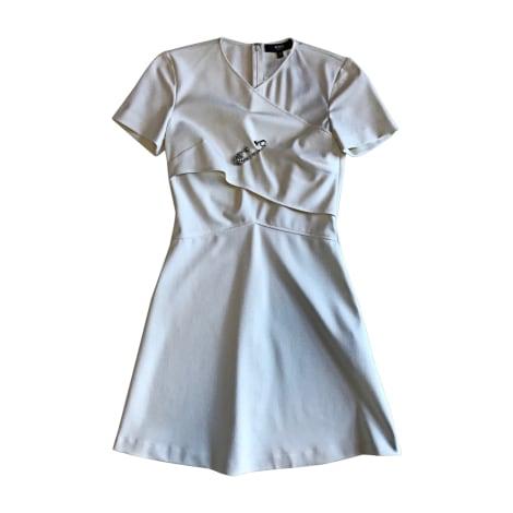 Robe courte VERSUS VERSACE Blanc, blanc cassé, écru