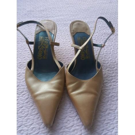 Sandales à talons SALVATORE FERRAGAMO Beige, camel