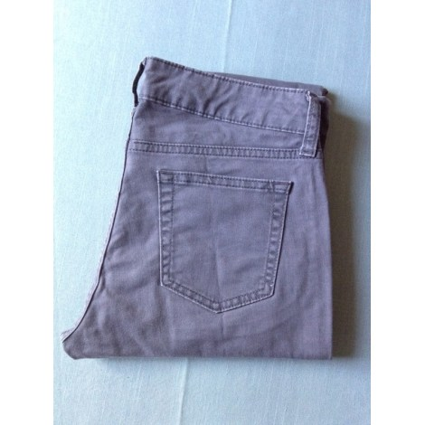 Pantalon slim, cigarette UNIQLO Gris, anthracite