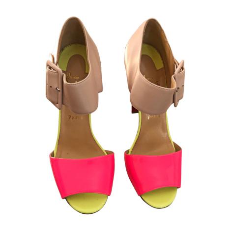 Sandales à talons CHRISTIAN LOUBOUTIN Beige, camel