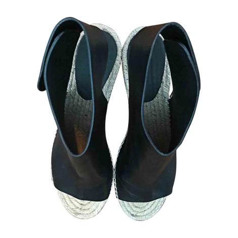 Sandales compensées CÉLINE Noir