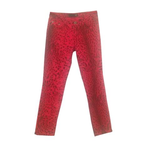 Pantalon droit JUST CAVALLI Rouge, bordeaux