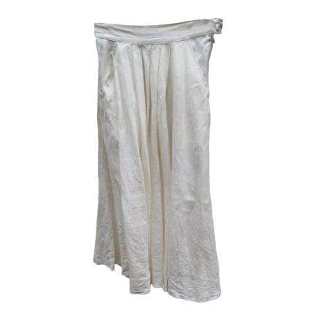 Jupe longue MAX MARA Blanc, blanc cassé, écru
