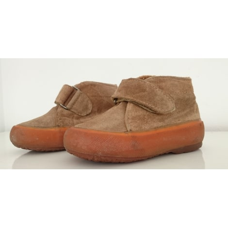 Chaussures à scratch SUPERGA Beige, camel
