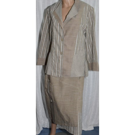 Tailleur jupe CHRISTIAN MARRY Beige, camel