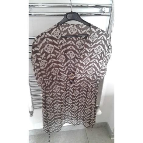 Robe tunique LIVIA Marron