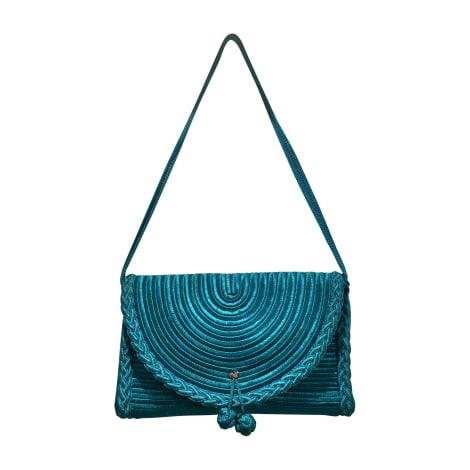 Sac en bandoulière en tissu NINA RICCI Bleu, bleu marine, bleu turquoise