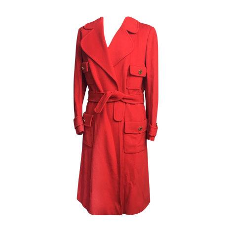 Manteau CHANEL Rouge, bordeaux