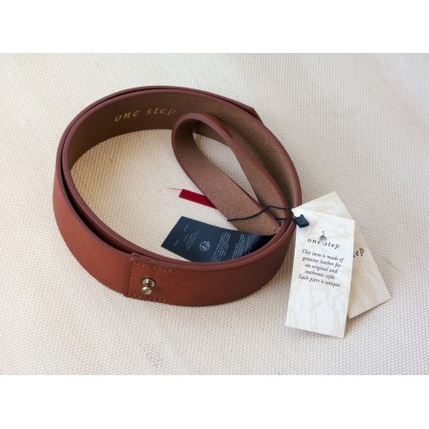 Ceinture fine ONE STEP Marron