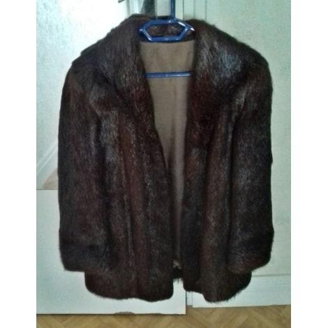 Blouson, veste en fourrure MARQUE INCONNUE Doré, bronze, cuivre