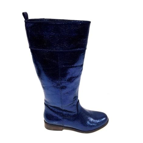 Bottes cavalières MELLOW YELLOW Bleu, bleu marine, bleu turquoise