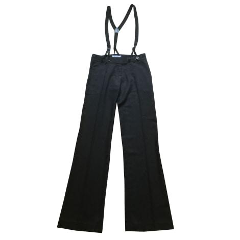 Pantalon évasé LES PETITES... Gris, anthracite