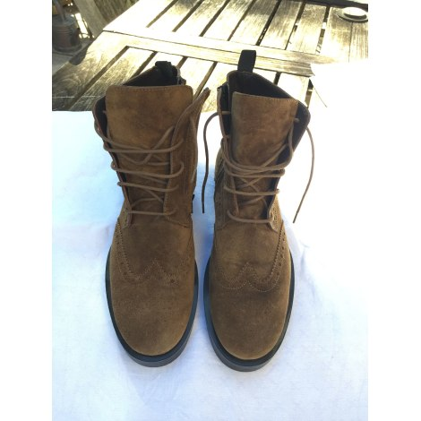 Bottines & low boots plates TRIVER FLIGHT Marron