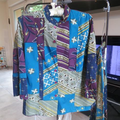Tailleur pantalon JACQUELINE RIU Bleu, bleu marine, bleu turquoise