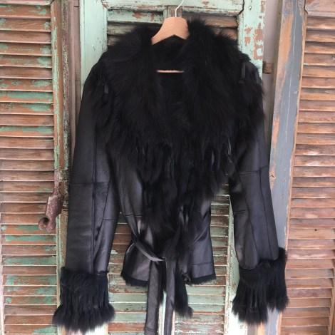 Blouson, veste en fourrure MARQUE INCONNUE Noir