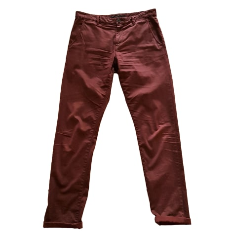 Pantalon droit IKKS Rouge, bordeaux