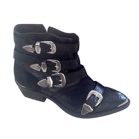 Santiags, bottines, low boots cowboy PINKO Noir