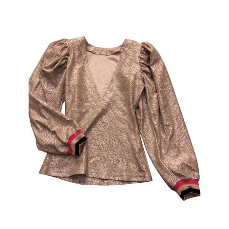 Top, tee-shirt MANOUSH Doré, bronze, cuivre