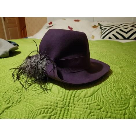 Chapeau GALERIES LAFAYETTE Violet, mauve, lavande