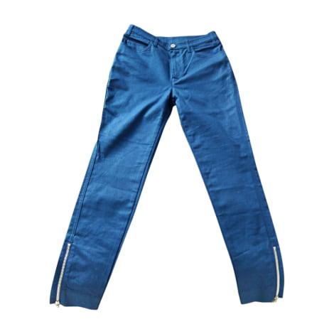 Pantalon slim, cigarette LOUIS VUITTON Bleu, bleu marine, bleu turquoise