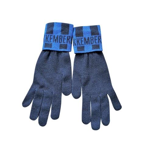 Gants DIRK BIKKEMBERGS Bleu, bleu marine, bleu turquoise