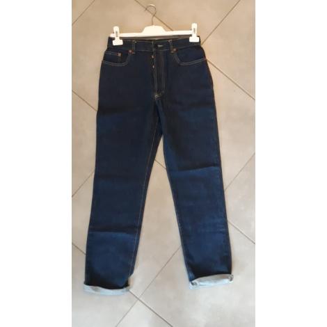 Jeans droit JEAN PAUL GAULTIER Bleu, bleu marine, bleu turquoise
