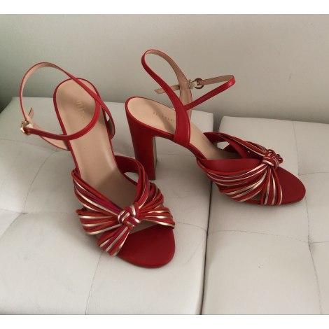 Sandales à talons MINELLI Rouge, bordeaux