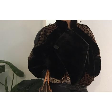 Blouson, veste en fourrure CLAUDE SIMI Noir