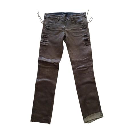 Pantalon droit ISABEL MARANT Marron