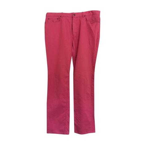 Pantalon droit RALPH LAUREN Rose, fuschia, vieux rose